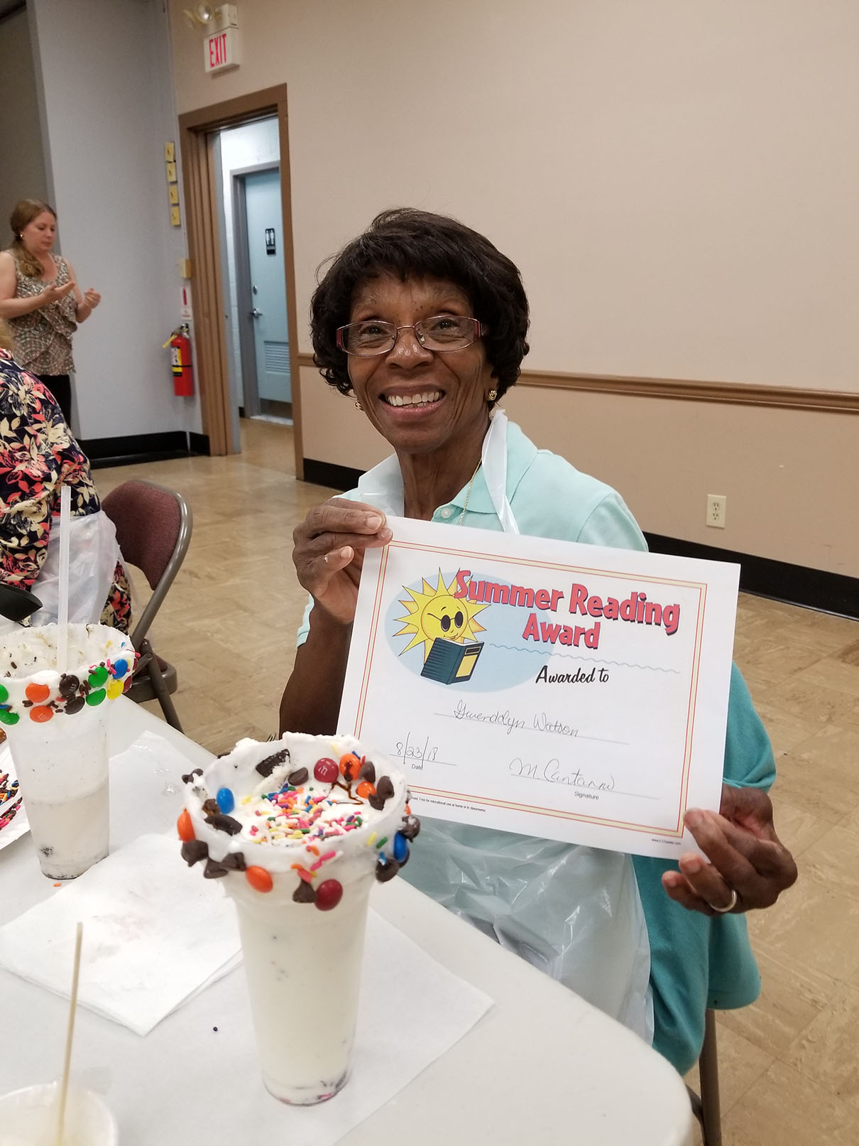 Mrs. Gwendolyn Watson - Adult Summer Reading Club Celebration